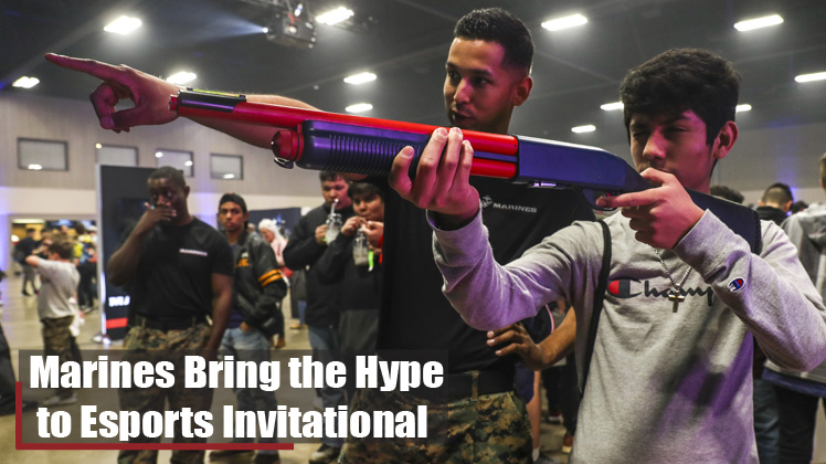 Marines Bring the Hype to Esports Invitational