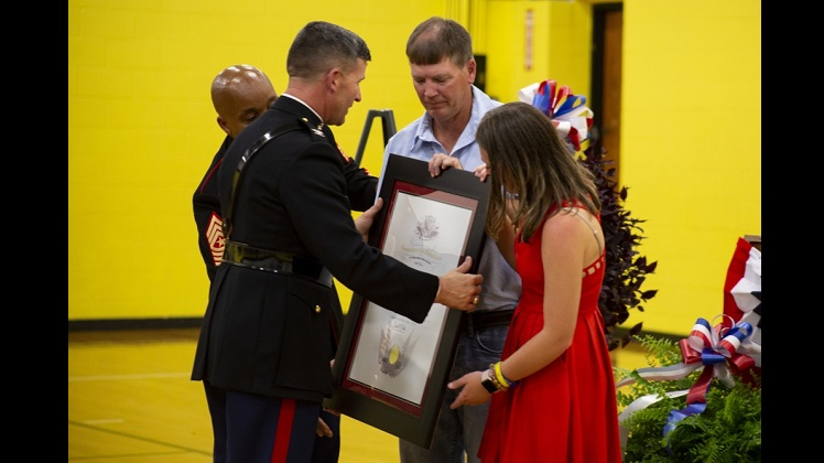Hunter Northcutt's Fighting Spirit Against Cancer; Earns Title Honorary Marine