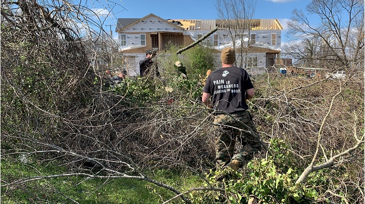 Nashville Marines Support Tornado Recovery Efforts