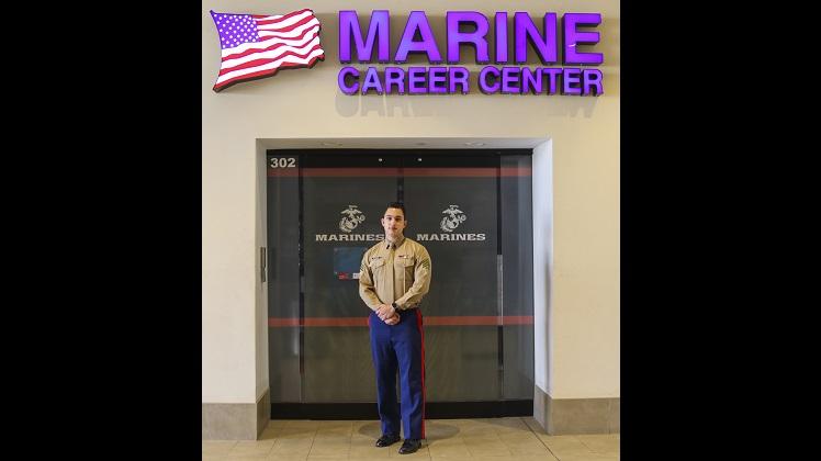 U.S. Marine Provides Lifesaving Act at High School Career Fair