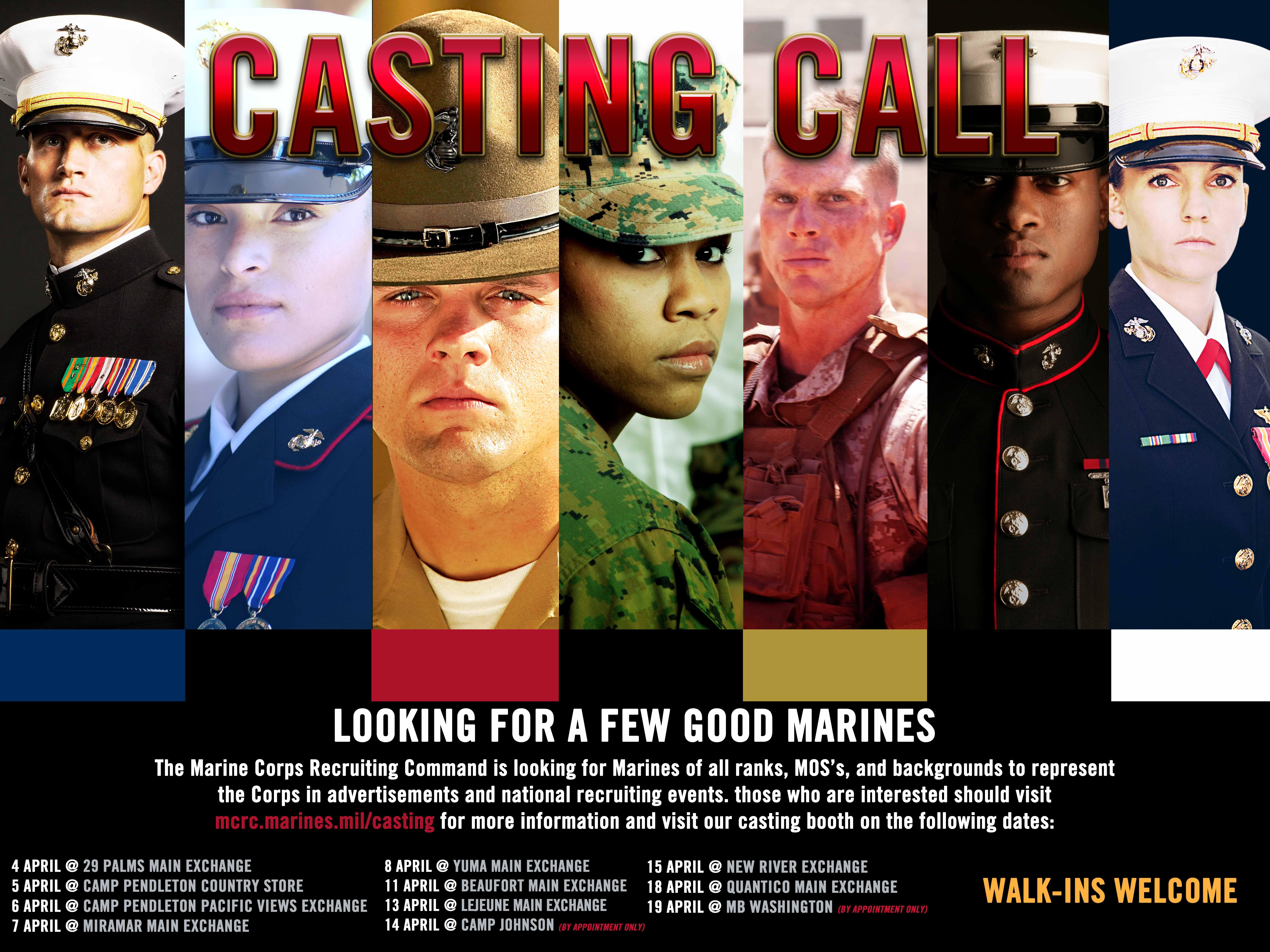 marine corps recruiting command  u0026gt  casting